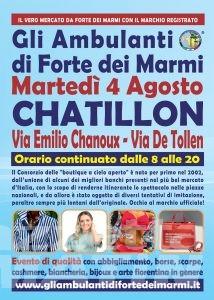 Gli Ambulanti di Forte dei Marmi® a Chatillon martedì 4 agosto
